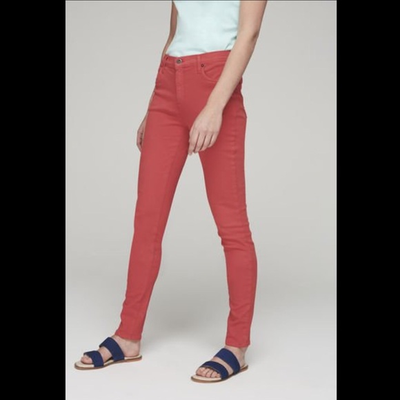 Second yoga eco jeans in wine colour